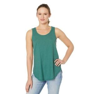 Toad&Co Tissue Tie Tank Top in Duck Green size L